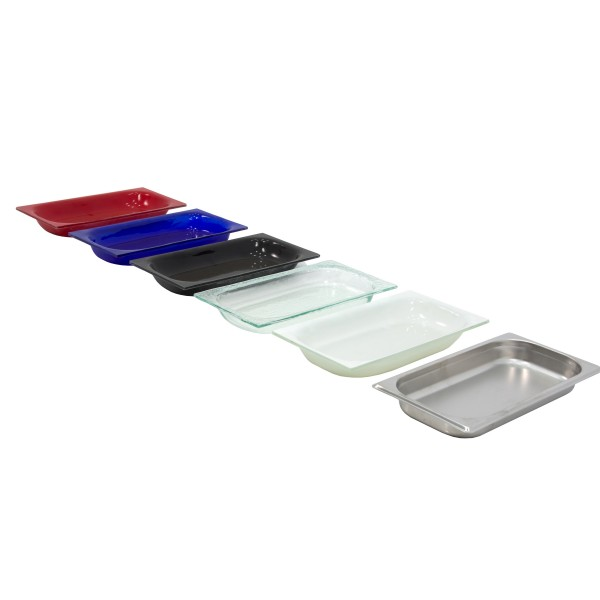 White Glass Tray GN1/3-40 mm GN-BL