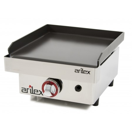 Plancha a gas ARILEX antiadherente con recubrimiento cerámico con medidas 410x457x240h mm NANOTEC40