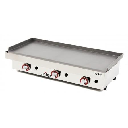 Plancha a gas ARILEX en acero laminado de 6 mm con medidas 1010x457x240h mm 100PGL