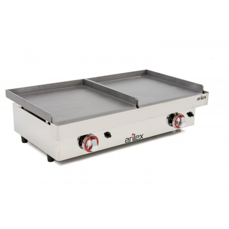 Plancha a gas ARILEX serie DUO (40 laminado + 40 laminado) con medidas 810x457x265h mm 4040PGLL