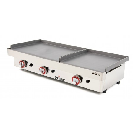 Gas Griddle DUO series (60 laminated steel + 40 laminated steel) with measures1010x457x265h mm 6040PGLL