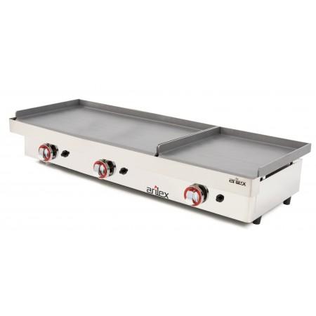 Plancha a gas ARILEX serie DUO (80 laminado + 40 laminado) con medidas con medidas 1210x457x265h mm 8040PGLL