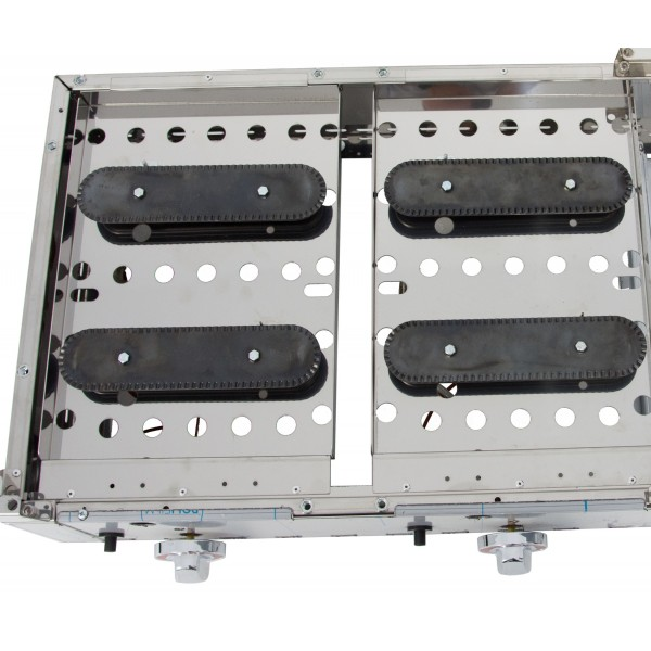 Gas Griddle DUO series (60 laminated steel + 60 laminated steel) with measures1210x457x265h mm 6060PGLL