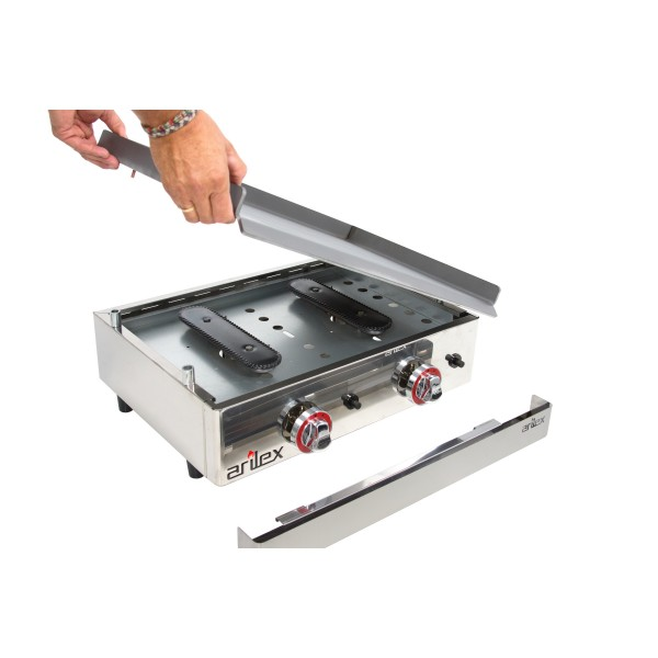 Rectified Gas Griddle 6 mm. thick with measures 810x457x240h mm 80PGR