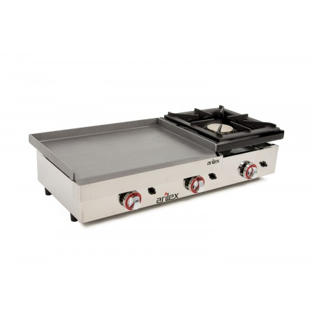 Gas Griddle of 60cm and 6mm thick + 6 kW stove with measures  1010x457x240h mm 100PGLF