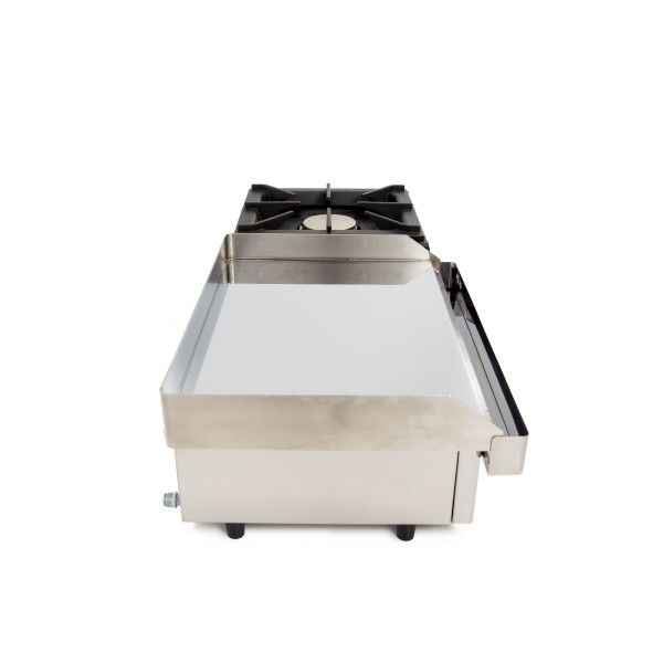 Gas Griddle of 80cm and 6mm thick + 6 kW stove with measures 1210x457x240h mm 120PGLF