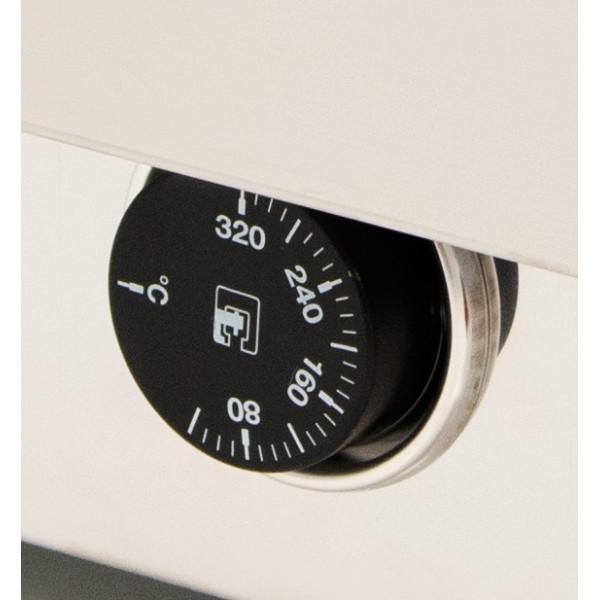 Plancha eléctrica ARILEX en acero rectificado de 15 mm con medidas 610x457x240h mm 60PER