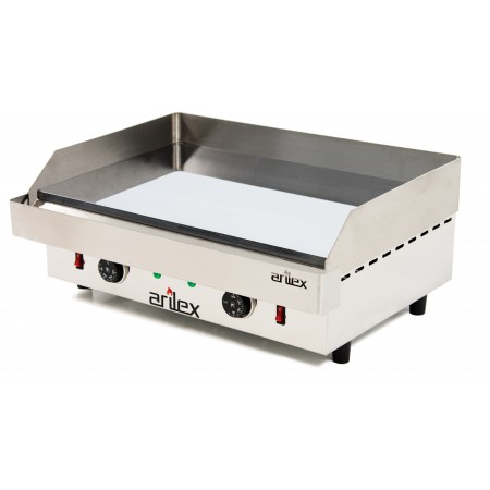 ARILEX electric griddle in chromed steel 15 mm thick with measures 610x457x240h mm 60PEC