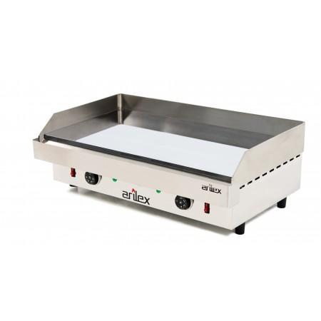 Plancha eléctrica ARILEX en acero de 15 mm con baño de cromo con medidas 810x457x240h mm 80PEC