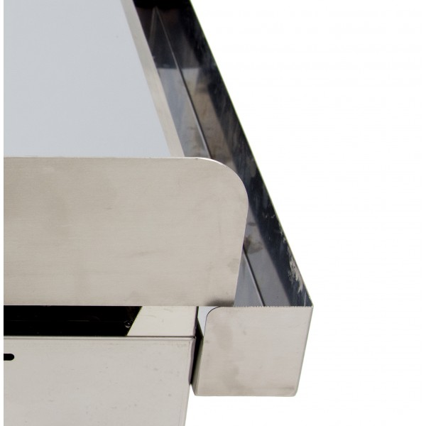 Gas Frytop with hard chrome steel plate 15mm thick with measures 335x590x345h mm 35FRYGC