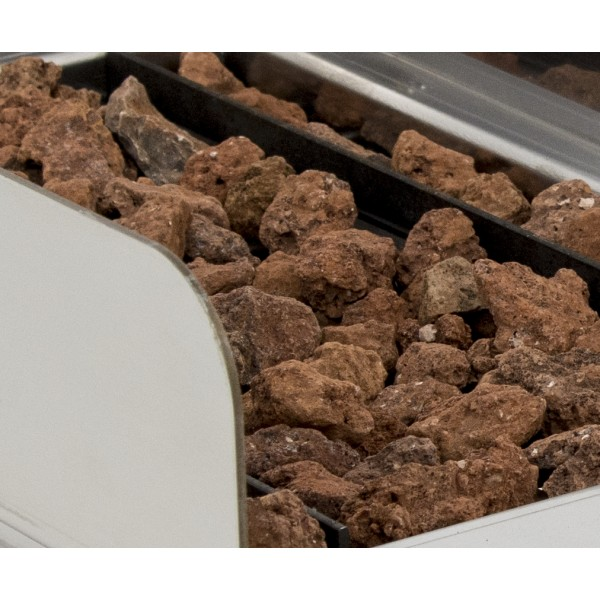 Basque Grill  with Volcanic Stone with measures 670x590x345h mm 70VAS