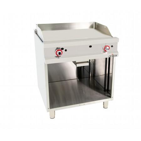 Frytop a gas acero rectificado 800x700x900h mm 11,4 kW 80FRYGR70