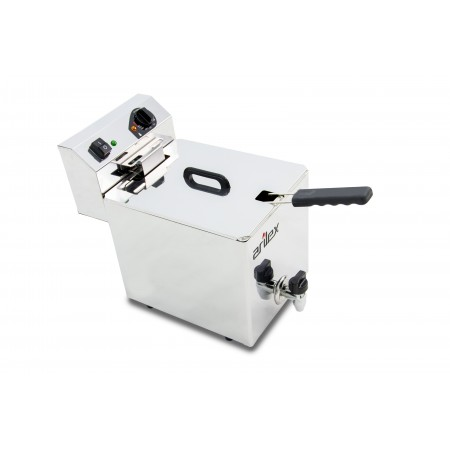 10L  and 3,5kW Monofasic EVOLUTION Electric Fryer with Contactor and Tap EVO10G