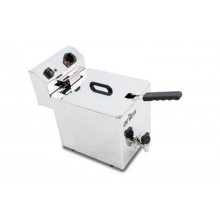 Freidora eléctrica EVOLUTION con grifo capacidad 10 litros con potencia 3,5 kw monofásica con contactor EVO10G