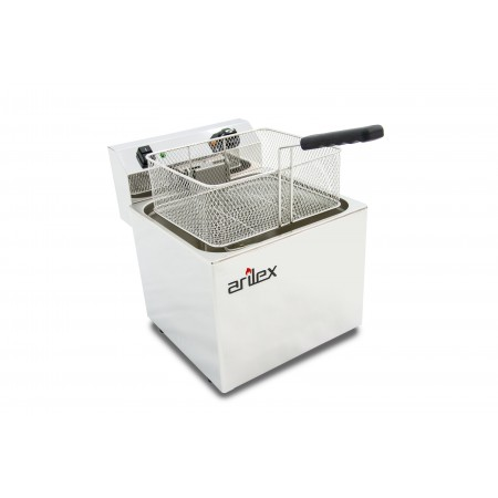 12L  and 4,5kW Monofasic EVOLUTION Electric Fryer with Contactor and Without Tap EVO12
