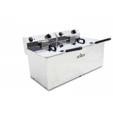 12+12L  and 4,5+4,5kW Monofasic EVOLUTION Electric Fryer with Contactor and Without Tap EVO1212