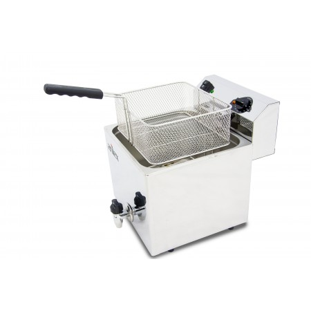 12L and 4,5kW Monofasic EVOLUTION Electric Fryer with Contactor and Tap EVO12G