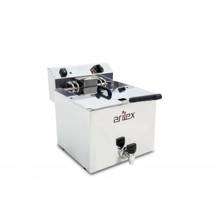 Freidora eléctrica EVOLUTION con grifo capacidad 12 litros con potencia 7,5 kw trifásica con contactor EVO12GTR