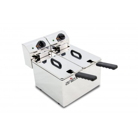 5+5L and 2,2+2,2kW Monofasic EVOLUTION Electric Fryer Without Tap EVO55