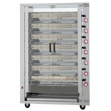 Rôtisseur vertical à gaz ARILEX pour 7 brôches 7ASG