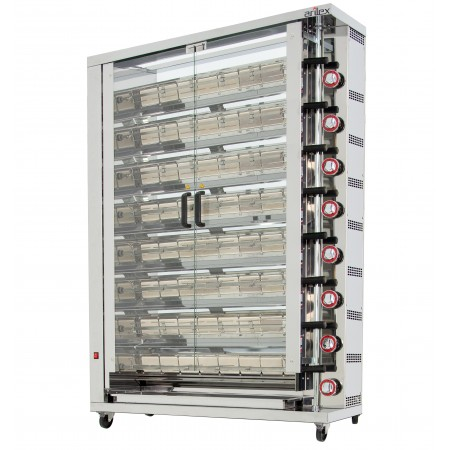 Rôtisseur vertical à gaz ARILEX pour 8 brôches 8ASG