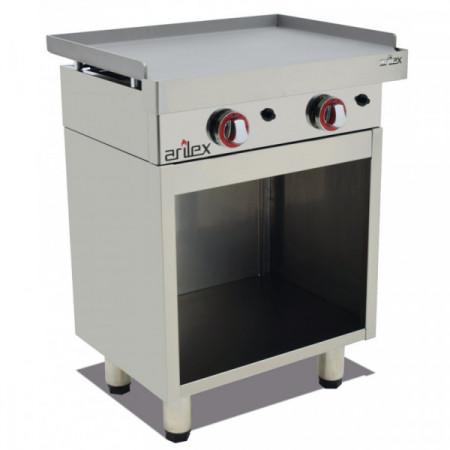 Mueble acero inoxidable para planchas a gas de 1145x400x600h mm 120MPGCG