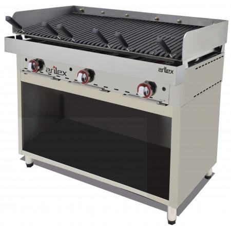 Mueble acero inoxidable para Frytops / Parrilla Vasca de 348x490x600h mm 35MFRVA