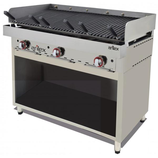 Mueble acero inoxidable para Frytops / Parrilla Vasca 994x490x600h mm 100MFRVA