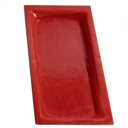 Cubeta cristal color rojo GN1/3-40 mm GN-RO