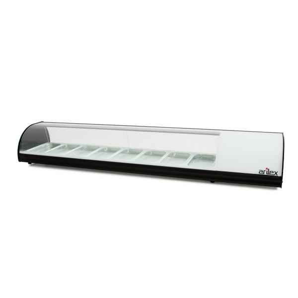 Vitrina refrigerada de tapas 8 bandejas GN1/3 color blanco 8VTG-BL