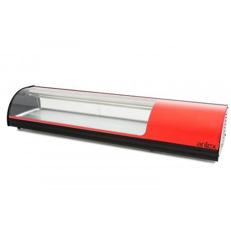 Vitrina refrigerada de tapas  6 bandejas GN1/3 color rojo 6VTG-RO SUSHI